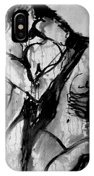 Figurative iPhone Case - Love Me Tender by Jarmo Korhonen aka Jarko