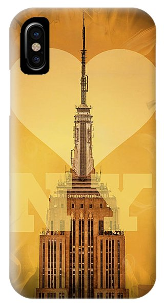 Empire State Building iPhone Case - Love New York by Az Jackson