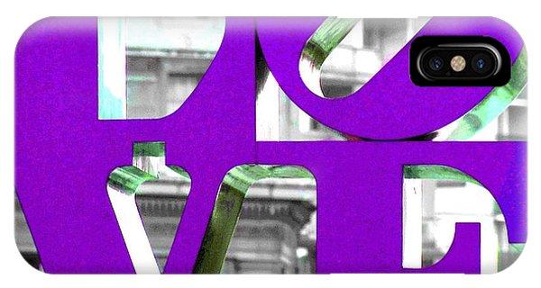 Love Philadelphia Purple IPhone Case
