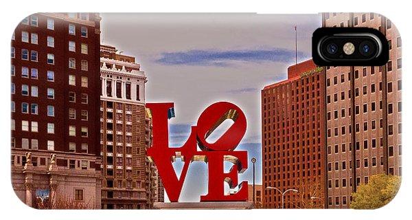 Love Sculpture - Philadelphia - 2 IPhone Case