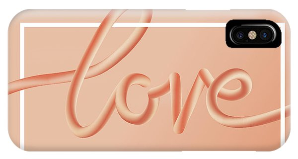 Love Text Lettering In Red Color IPhone Case