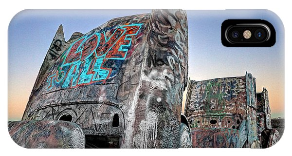 Love To All Cadillac Ranch IPhone Case