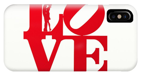 I Love You iPhone Case - Love Typography - Red On White by World Art Prints And Designs