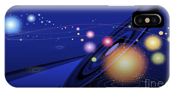 IPhone Case featuring the digital art Love  Universe by Eleni Mac Synodinos