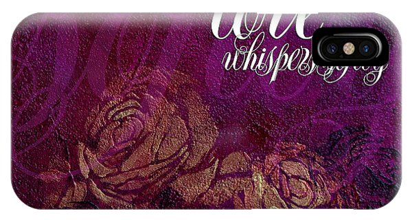 iPhone Case - Love Whispers Softly by Julie Acquaviva Hayes