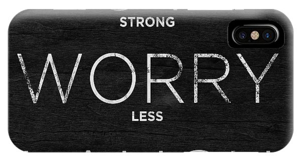 Work iPhone Case - Love, Worry, Laugh (shine Bright) by South Social Studio