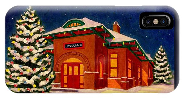 Loveland Depot At Christmas IPhone Case