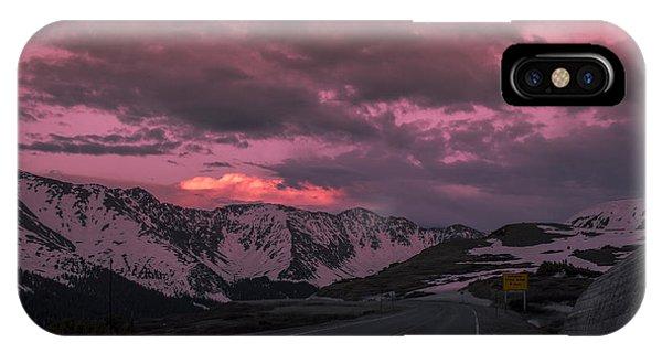 Loveland Pass Sunset IPhone Case