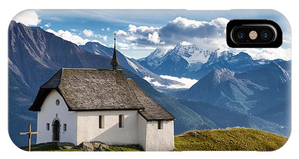 Lovely Little Chapel In The Swiss Alps IPhone Case