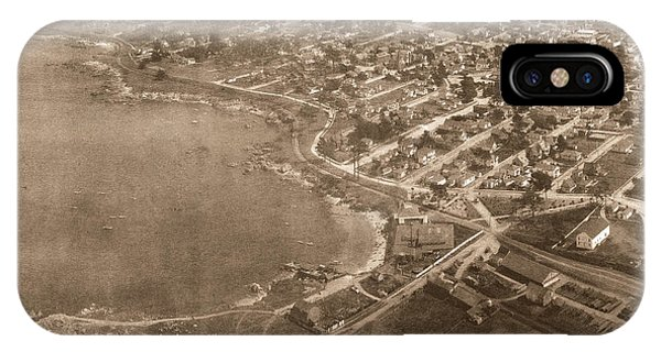 Aerial Of Lovers Point And Pacific Grove California July 10 1906 IPhone Case
