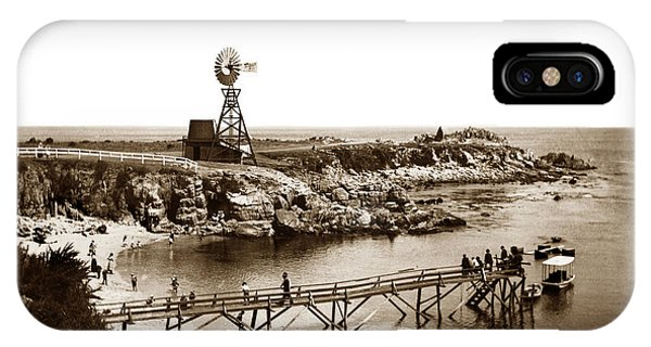 Lovers Point Beach And Old Wooden Pier Pacific Grove August 18 1900 IPhone Case