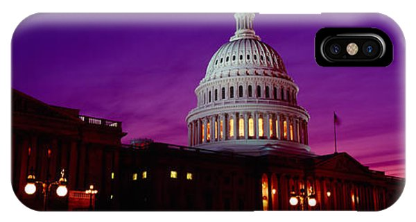 Capitol Building iPhone Case - Low Angle View Of A Government Building by Panoramic Images