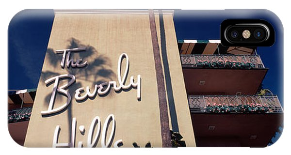 Beverly Hills iPhone Case - Low Angle View Of A Hotel, Beverly by Panoramic Images