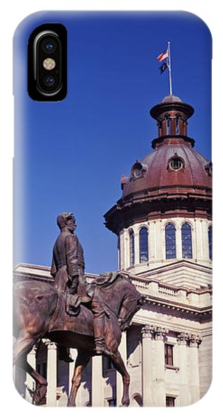 Capitol Building iPhone Case - Low Angle View Of A Statue In Front by Panoramic Images