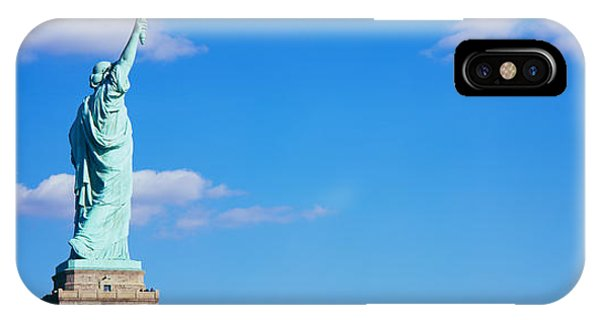 Statue Of Liberty iPhone Case - Low Angle View Of A Statue, Statue by Panoramic Images