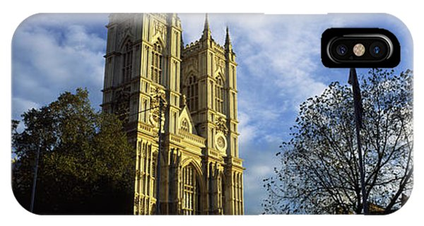 Low Angle View Of An Abbey, Westminster IPhone Case