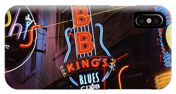 Culture Club iPhone Case - Low Angle View Of Neon Signs Lit by Panoramic Images