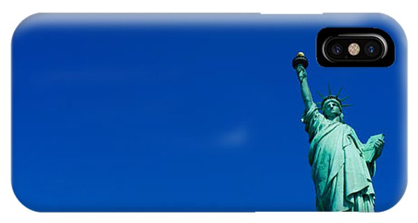 Statue Of Liberty iPhone Case - Low Angle View Of Statue Of Liberty by Panoramic Images