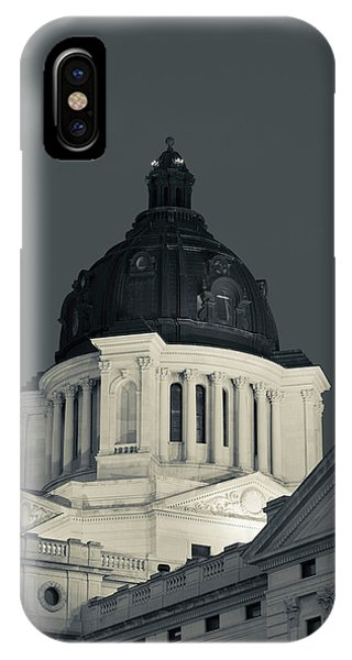Capitol Building iPhone Case - Low Angle View Of The South Dakota by Panoramic Images
