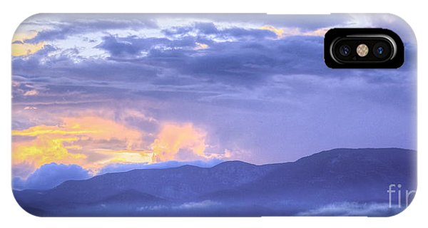Low Hanging Clouds At Sunset IPhone Case