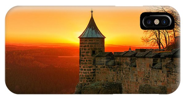 Low Sun On The Fortress Koenigstein IPhone Case