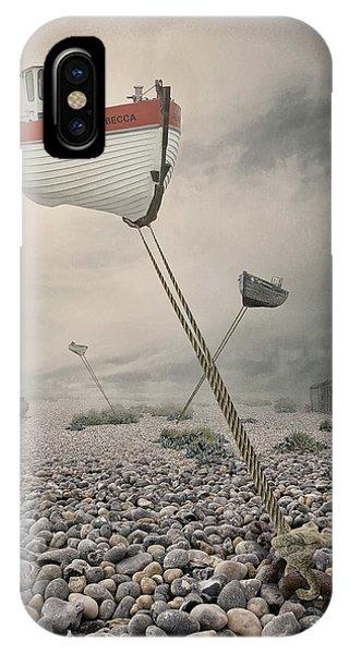 Boat iPhone Case - Low Tide by Baden Bowen
