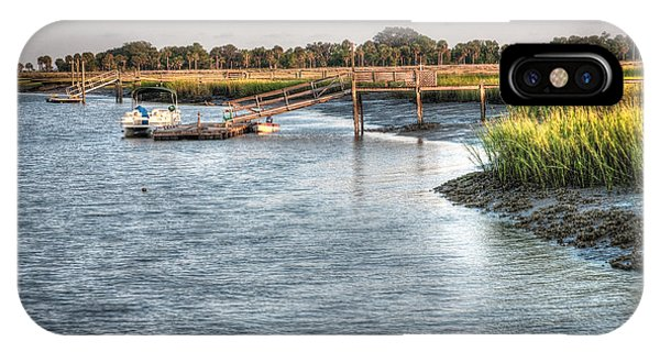 Tidal Marsh iPhone Case - Low Tide On The Bull River by Scott Hansen