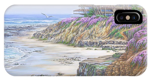 Low Tide Solana Beach IPhone Case
