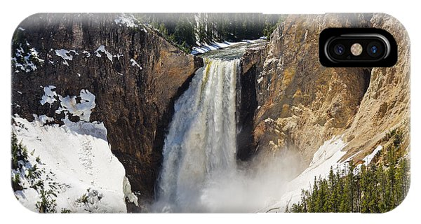 Lower Falls Of The Yellowstone IPhone Case