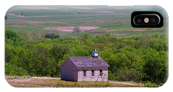 Lower Fox Creek Schoolhouse In The Flint Hills Of Kansas IPhone Case