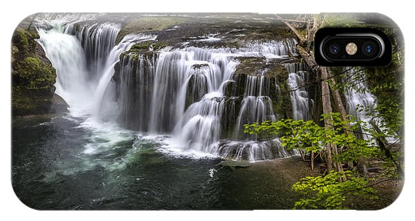 Lower Lewis River Falls IPhone Case