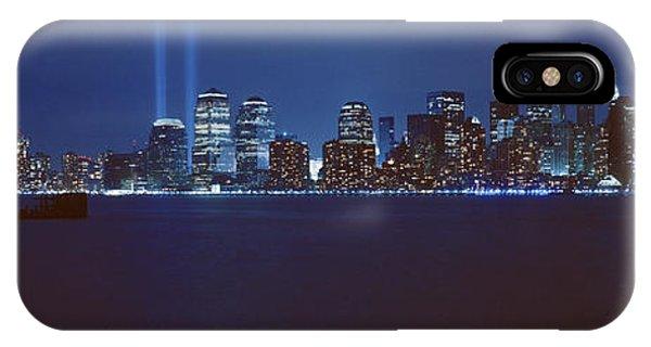 Lower Manhattan, Beams Of Light, Nyc IPhone Case