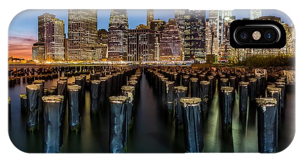 IPhone Case featuring the photograph Lower Manhattan by Mihai Andritoiu