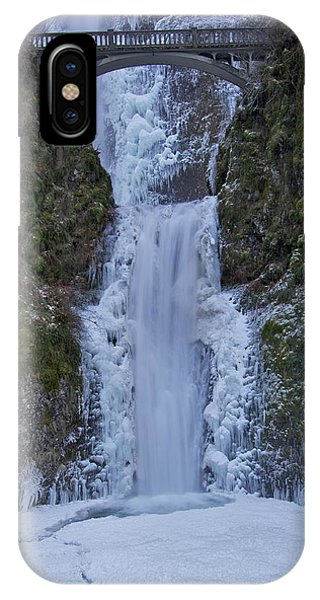 Lower Multnomah Falls 120813a IPhone Case