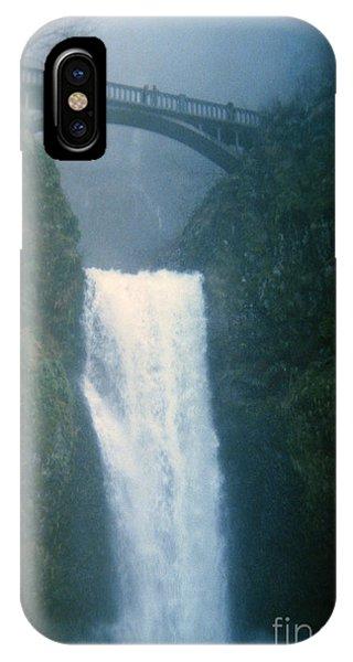 Lower Multnomah Falls Through The Mist IPhone Case