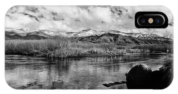 River iPhone Case - Lower Owens River by Cat Connor