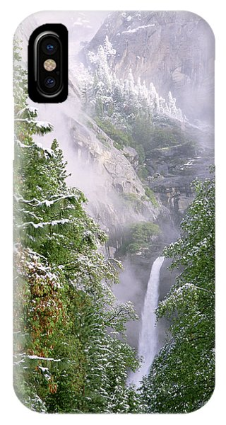 Lower Yosemite Falls After A Spring Storm IPhone Case