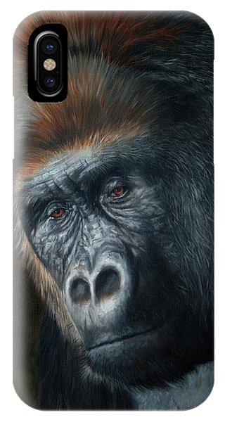Lowland Gorilla Painting IPhone Case