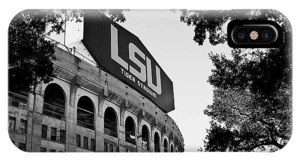 Mono iPhone Case - Lsu Through The Oaks by Scott Pellegrin
