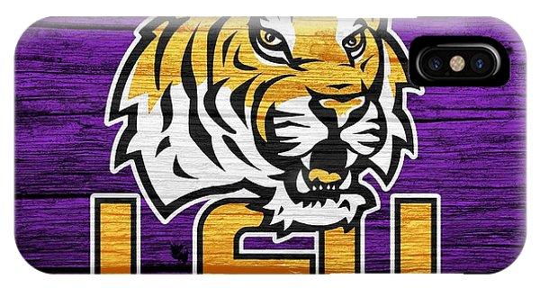 Baton Rouge iPhone Case - Lsu Tigers Barn Door by Dan Sproul