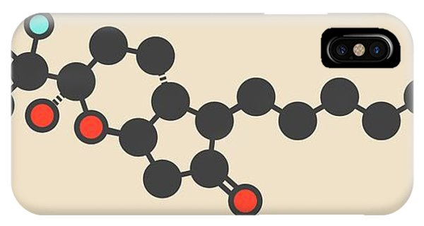 Chronic iPhone Case - Lubiprostone Constipation Drug Molecule by Molekuul