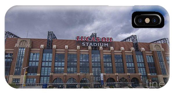 Lucas Oil Stadium Indianapolis Colts Clouds IPhone Case