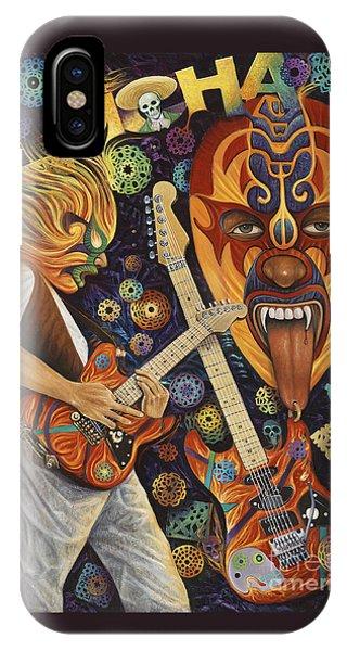 Van Halen iPhone Case - Lucha Rock by Ricardo Chavez-Mendez