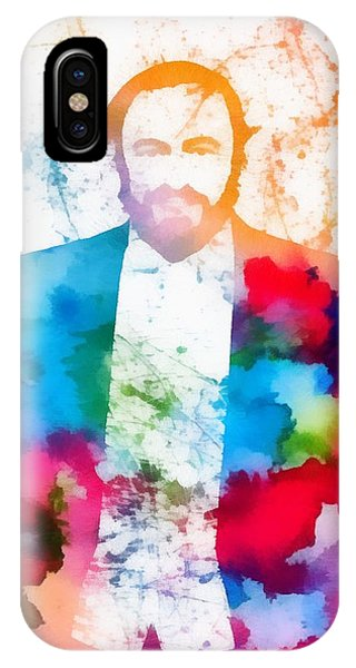 Luciano Pavarotti Paint Splatter IPhone Case