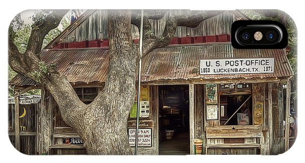 Texas iPhone Case - Luckenbach 2 by Scott Norris