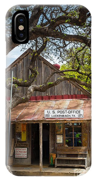 Porches iPhone Case - Luckenbach Post Office by Inge Johnsson