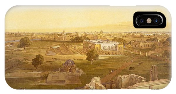 British Empire iPhone Case - Lucknow, From India Ancient And Modern by William 'Crimea' Simpson
