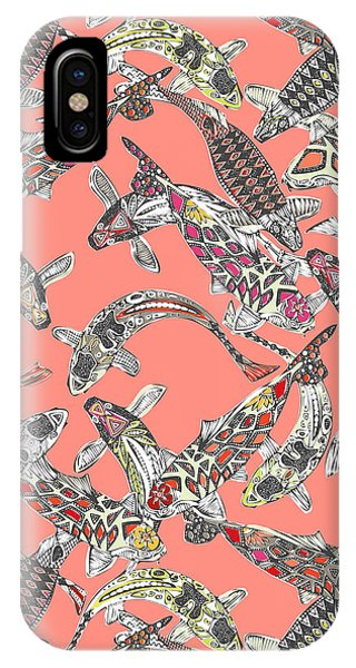 Lucky Koi Coral IPhone Case