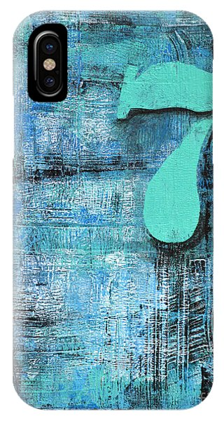 Lucky Number 7 Blue Turquoise Abstract By Chakramoon Phone Case by Belinda Capol