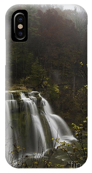 Ludlowville Falls In Autumn I IPhone Case
